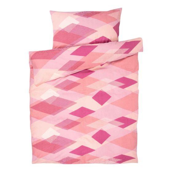 Bettwäsche pink mit Rauten