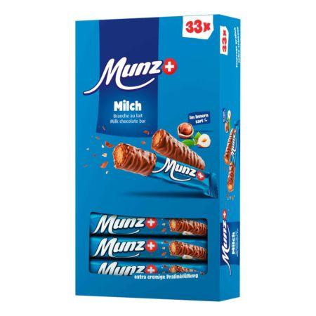 Munz Milch Schokoladenstängel 33 x 23 g