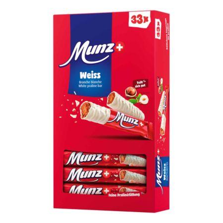 Munz Weiss Schokoladenstängel 33 x 23 g