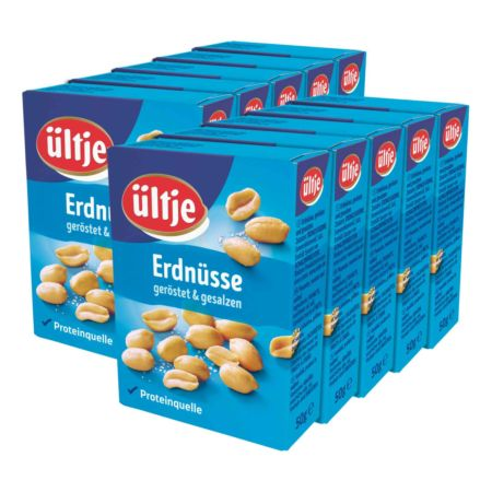 Ültje Erdnüsse geröstet & gesalzen 10 x 50 g