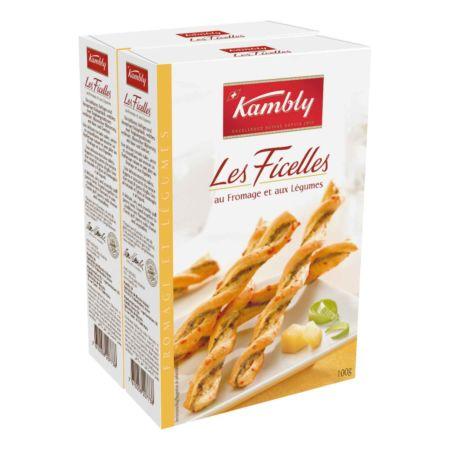Kambly Les Ficelles au Fromage et aux Légumes 2 x 100 g