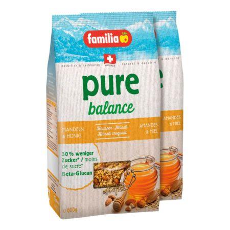 Familia Müesli pure balance Mandeln & Honig 2 x 600 g