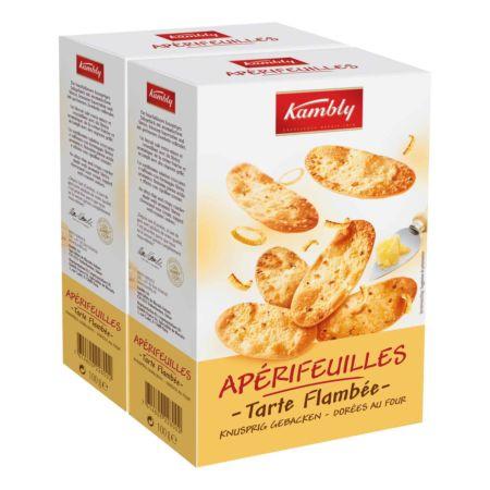 Kambly Apérifeuilles Tarte Flambée Fromage 2 x 100 g