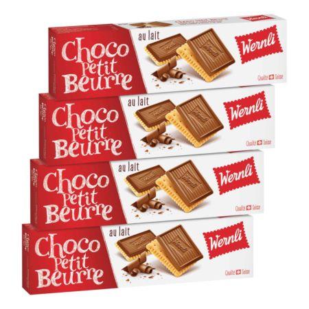 Wernli Choco Petit Beurre au lait 4 x 125 g