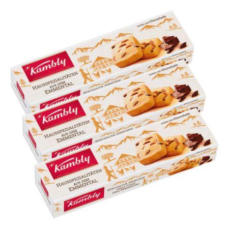 Kambly Sablés mit Chocolade 3 x 90 g
