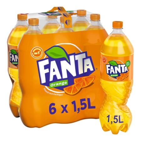 Fanta Orange 6 x 1,5 Liter