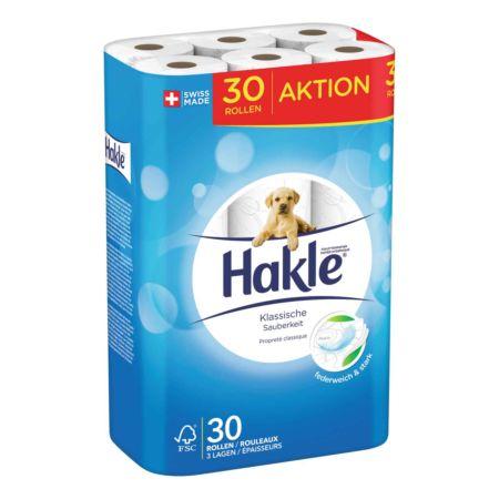 Hakle Toilettenpapier 3-lagig Klassische Sauberkeit 30 Rollen