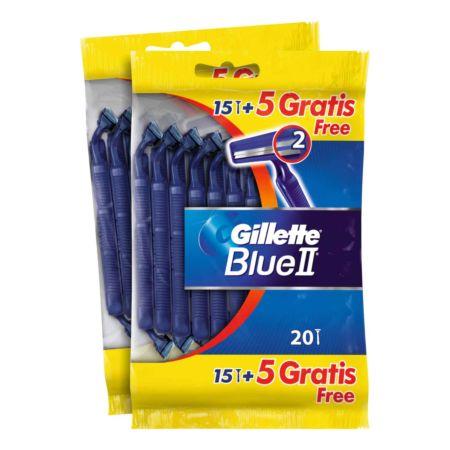 Gillette Einwegrasierer Blue II 2 x 15 Stück + 5 Stück Gratis
