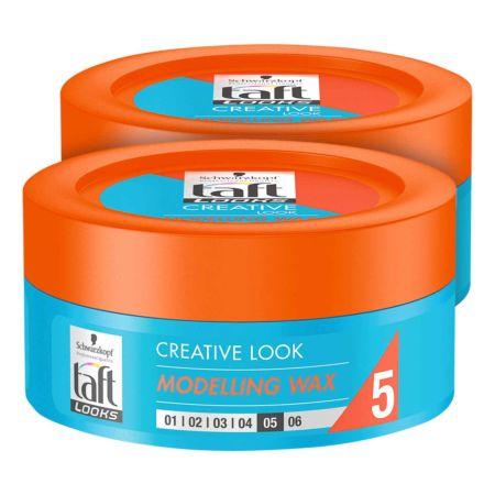 Taft Looks Modelling Wax Nr. 5 2 x 75 ml