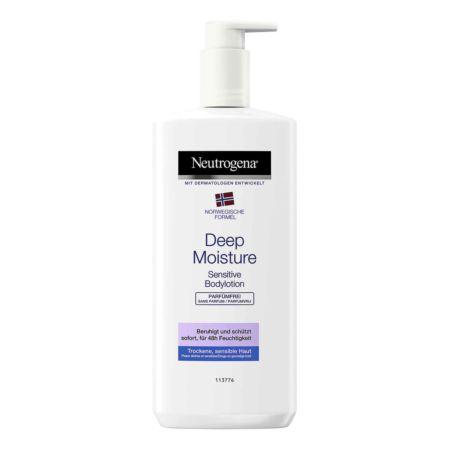 Neutrogena Deep Moisture Bodylotion Sensitive Parfümfreie Pflege 400 ml