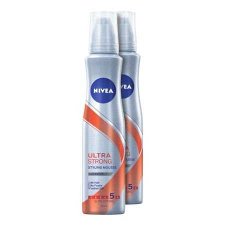 Nivea Ultra Strong Styling Mousse 2 x 150 ml