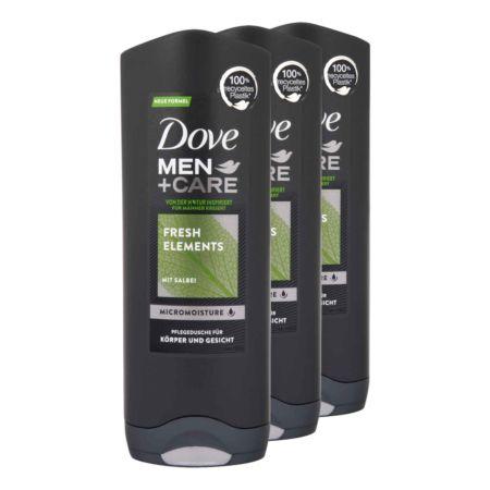 Dove Men + Care Pflegedusche für Körper und Gesicht Fresh Elements 3 x 250 ml