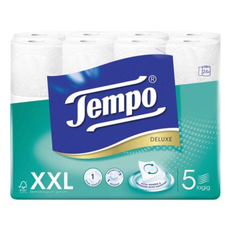Tempo Toilettenpapier Deluxe 5-lagig XXL PACK 24 Rollen