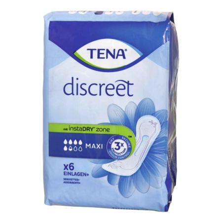 Tena Discreet Einlagen Maxi InstaDRY 6 Stück