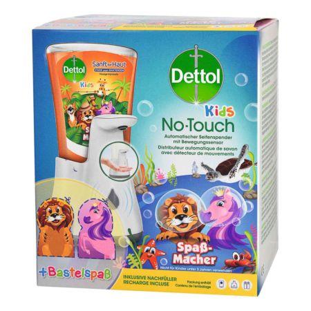 Dettol Starterkit Kids No-Touch Automatischer Seifenspender + Flüssigseife 250 ml
