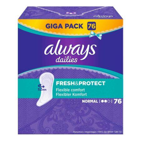 Always Dailies Slipeinlagen Fresh & Protect Normal GIGA PACK 76 Stück