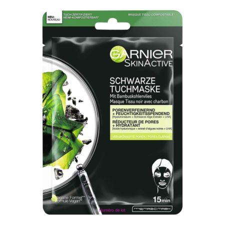 Garnier SkinActive Schwarze Tuchmaske Schwarze-Alge-Extrakt