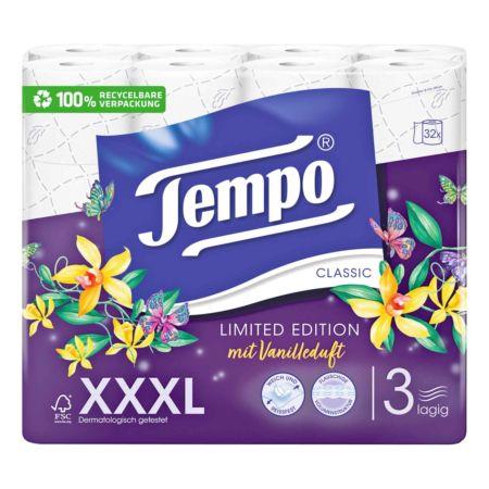Tempo Toilettenpapier mit Vanilleduft 3-lagig XXXL PACK 32 Rollen