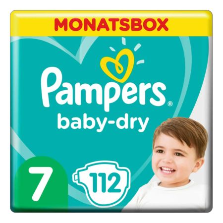 Pampers Baby Dry Gr. 7 Extra Large 15  kg Monatsbox 112er