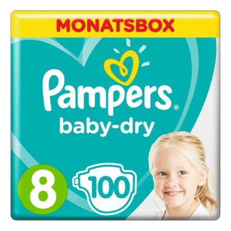 Pampers Baby Dry Gr. 8 Extra Large 17+  kg Monatsbox 100er