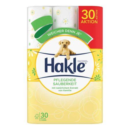 Hakle Toilettenpapier 4-lagig Kamille 30 Rollen