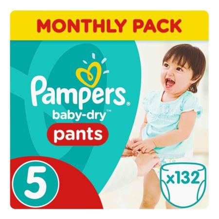 Pampers Gr. 5 Baby Dry Pants Junior 12-17 kg Monatsbox 132er
