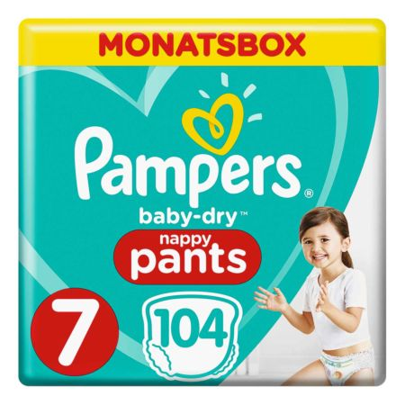 Pampers Gr. 7 Baby Dry Pants Extra Large Plus 17 kg Monatsbox 104er