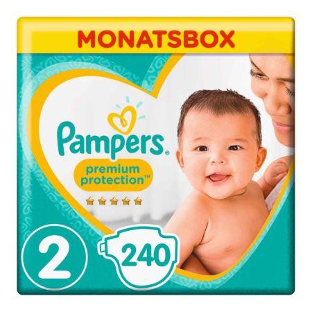 Pampers Gr. 2 Premium Protection Mini 4-8 kg Monatsbox 240er