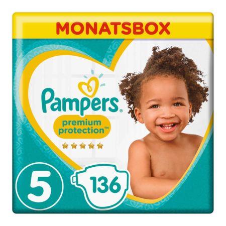 Pampers Gr. 5 Premium Protection Junior 11-16 kg Monatsbox 136er