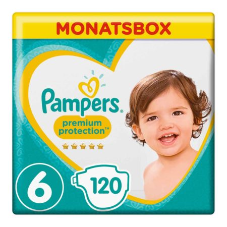 Pampers Gr. 6 Premium Protection Extra Large 13-18 kg Monatsbox 120er