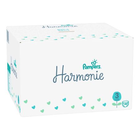 Pampers Pure Protection Gr. 3 Midi 6-10 kg Monatsbox 180er