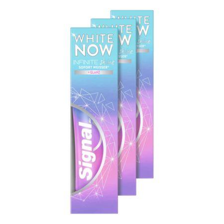 Signal Zahnpasta White Now Infinity Shine 3 x 75 ml