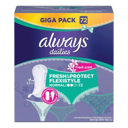 Always Slipeinlagen Fresh & Protect Normal Flexistyle Fresh 72er
