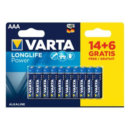 Varta Longlife Power AAA 14+6 Stück