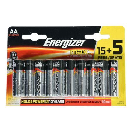 Energizer Batterien MAX AA 15 + 5 Stück Gratis