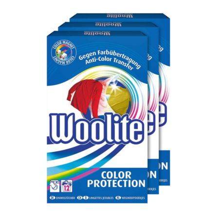 Woolite Color Protection 3 x 12 Stück