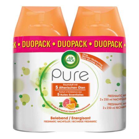 Air Wick Pure Automatisches Duftspray Freshmatic Max Nachfüller Orange & Granatapfel 2 x 250 ml