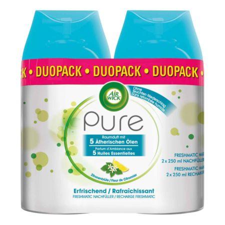Air Wick Pure Automatisches Duftspray Freshmatic Max Nachfüller Zitronenblüte 2 x 250 ml