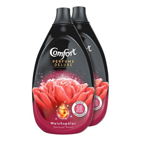 Comfort Weichspüler Perfume Deluxe Sensual Rose 2 x 58 Waschgänge