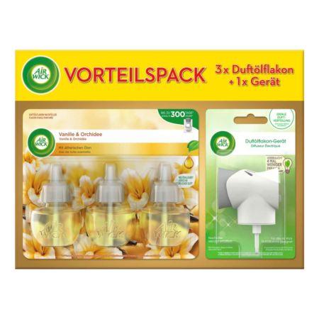 Air Wick Vorteilspack 3 x Duftölflakon + 1 x Gerät  Vanille & Orchidee