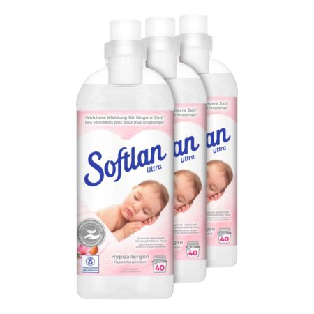 Softlan Ultra Weichspüler Hypoallergen 3 x 1 l