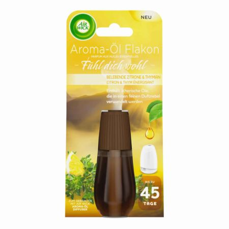 Air Wick Nachfüller Aroma-Öl Flakon Belebende Zitrone & Thymian 20 ml