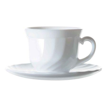 Luminarc Kaffeetasse mit Unterteller Trianon 12-teilig