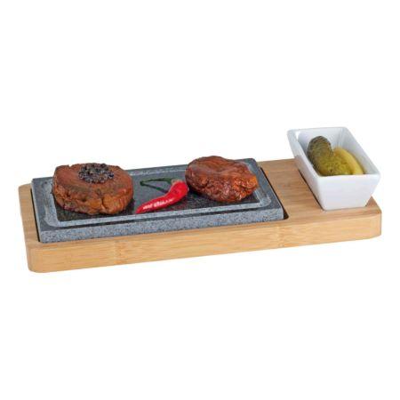 NOUVEL Hot Stone Set aus Holz 3-teilig
