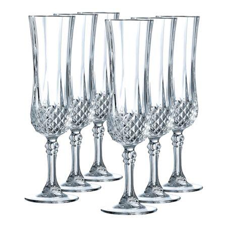 Cristal d'Arques Champagnerglas Longchamp 6 Stück 14 cl