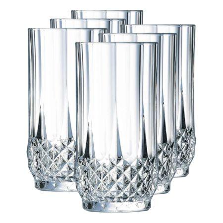 Cristal d'Arques Longdrinkgläser Longchamp 6 Stück 28 cl