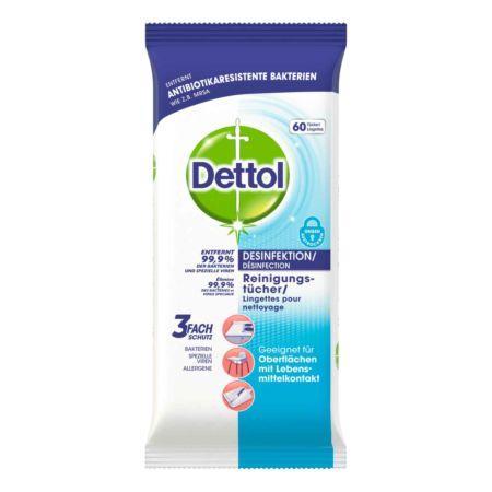 Dettol Desinfektion Reinigungstücher 2 x 60 Tücher