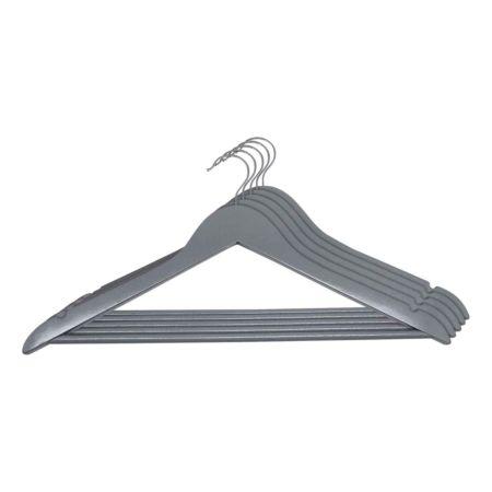 Kleiderbügel 10 Stück, grau matt