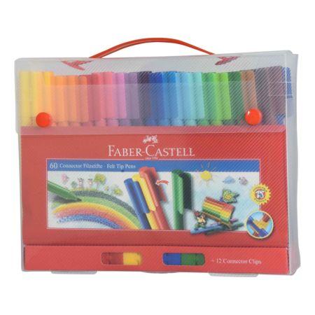 Faber Castell Connector Pen Koffer 60 Stück