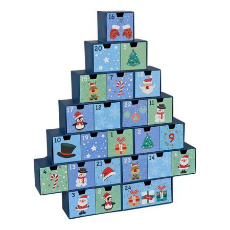 Adventskalender mit 24 Schubladen